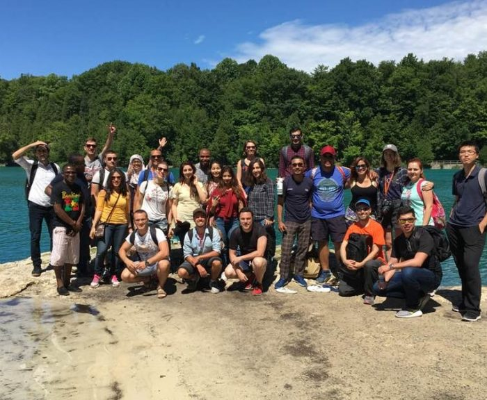 Fulbright Scholars visiting Green Lakes State Park