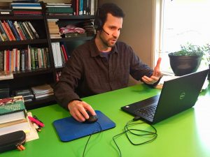 ELI Instructor teaching online class